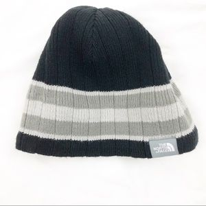 The North Face Unisex One Size Black Gray Beanie